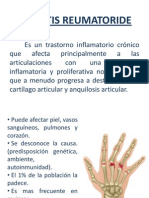 ARTRITIS REUMATORIDE - Patologia