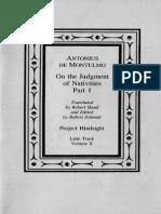 eBook - PH - Latin - V10 - Antonius de Montulmo - On the Judgement of Nativities, Part 1