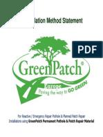 GreenPatch Pothole Repair Material Method Statement