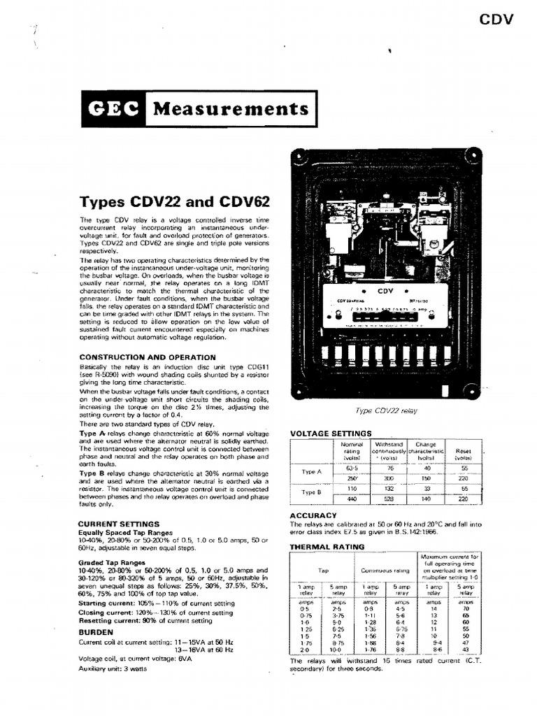 cdv62 relay resistor rh scribd com 5 Pin Relay Wiring Diagram cdg 61 relay connection diagram
