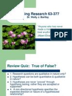 Nursing Research Lecture