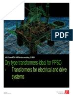 Dry Type Transformers-ideal for FPSO