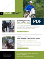 David Stuart - Horsemanship Courses 2014