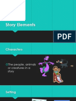story elements with student notations