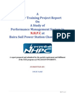 Project Report on Performance Management System in NHPC