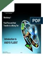 Fluent 13.0  Mixingtee