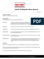 Chase Method Statement Dry Riser Testing
