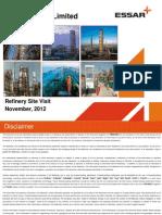 Refinery Site Visit Presentation