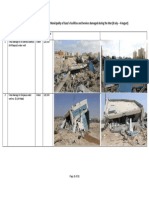 Initial Damage Assessment to the Municipality of Gaza - 9 August 2014