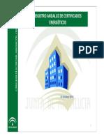 Registro Andaluz de Certificados Energeticos Oct 2013