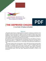 The Deprived Childhood