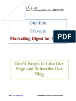 Marketing Digest for SBI PO