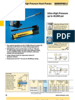 Enerpac High Pressure Pumps Catalog