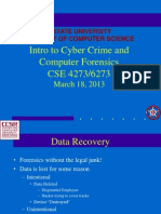 CSE6273 Data Recovery Hiding