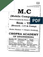 Mobile Computing (SEM - VII) notes