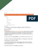 Exel Basics