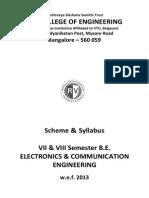 7th & 8th Sem Syllabus RVCE Electronics