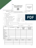 Vishwabharati University Admission Form