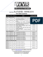GS Main Test Series Schedule 2014 and Syllabus for IAS UPSC Coaching