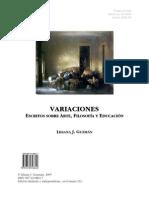 Variaciones, Escritos sobre arte, filosofía y formación