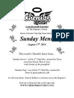 Sunday Lunch Menu 17082014