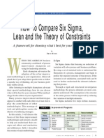 Six Sigma Lean v/s Theory of Constraints