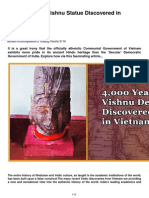 4 000 Year Old Vishnu Statue Discovered in Vietnam
