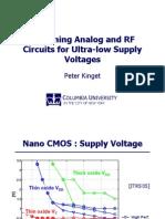 Kinget Ultra Low Voltage Analog RF April 2007