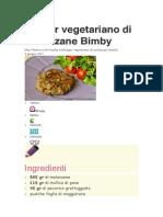 Burger Vegetariano Melanzane