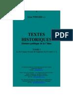 Wieger - Textes Historiques - Histoire Politique de La Chine - Tomo I
