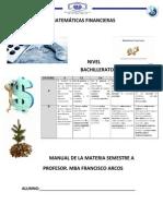 Matemáticas Financieras Portada y Manual