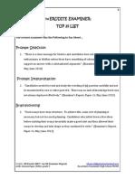 GP The Erudite Examiner Top 25 List
