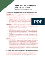 Cuestionario Derecho Colectivo