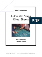 Automatic Craps Cheat Sheets