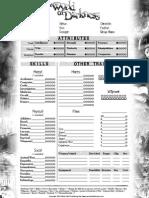 nWoD 2 Page interactive sheet