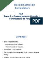 Part I. 1 - Comm.circuits i Comm. Paquets