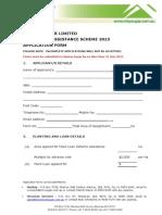 Plant Loan Scheme Application Form 2013
