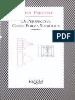 76856580 Panofsky Erwin La Perspectiva Como Forma Simbolica