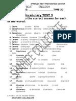 Vocabs Test-3 (C) 1