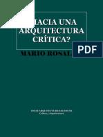 122342499 Rosaldo Mario Â¿Hacia Una Arquitectura Critica