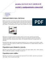 Expositores para tiendas de metacrilato, cartón, metálicos y bisutería.pdf