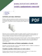 Góndolas para tiendas - Góndolas expositoras para comercios.pdf