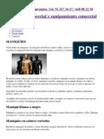 Maniquies venta online, precios económicos. Maniquí blanco, negro..pdf