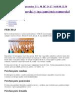 Perchas para tiendas, perchas de madera, metálicas, plástico...pdf
