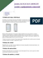 Vitrinas para tiendas. Vitrinas expositoras de cristal, madera, etc.pdf