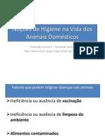 Noções de Higiene Na Vida Dos Animais Domésticos