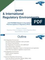Regulatoty Affairs EU & INTL