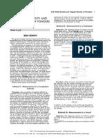 Bulk Density and Tapped Density of Powders