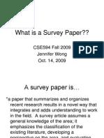 What is a Survey Paper
