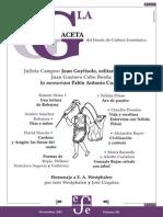 La Gaceta - Noviembre 2002 - Julieta Campos